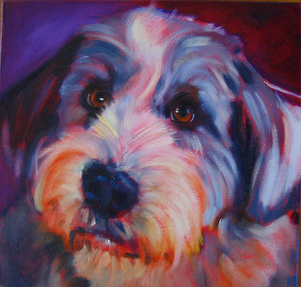 Old English Sheep Dog Art Print featuring the painting Willie by Kaytee Esser