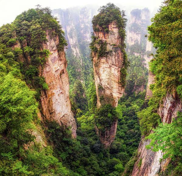Into The Peaks Of Zhangjiajie by Aaron Choi