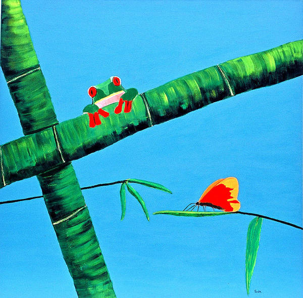 Caribbean Art Print featuring the painting Forest Feast by Sula Chance
