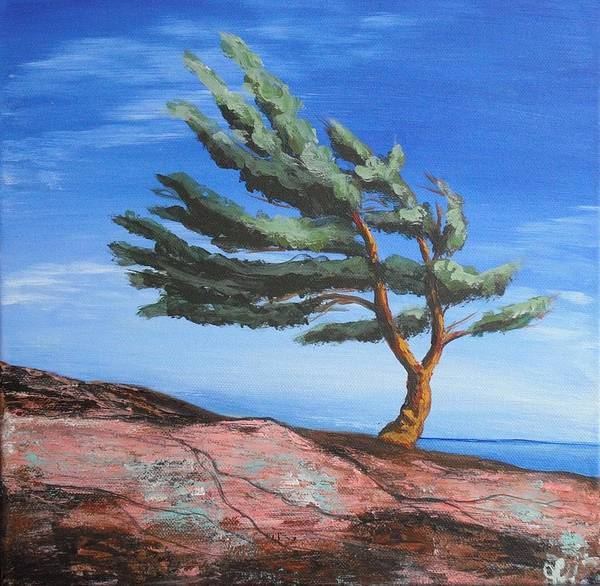 Landscape Art Print featuring the painting Landmark by Jana Caissie