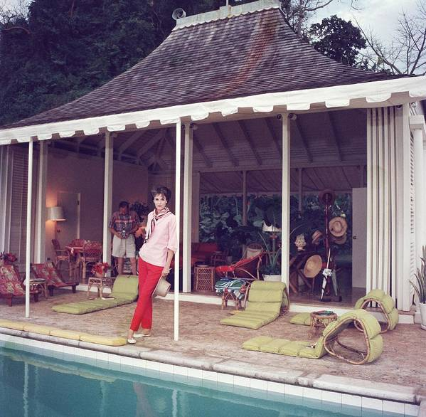 People Art Print featuring the photograph Family Snapper by Slim Aarons