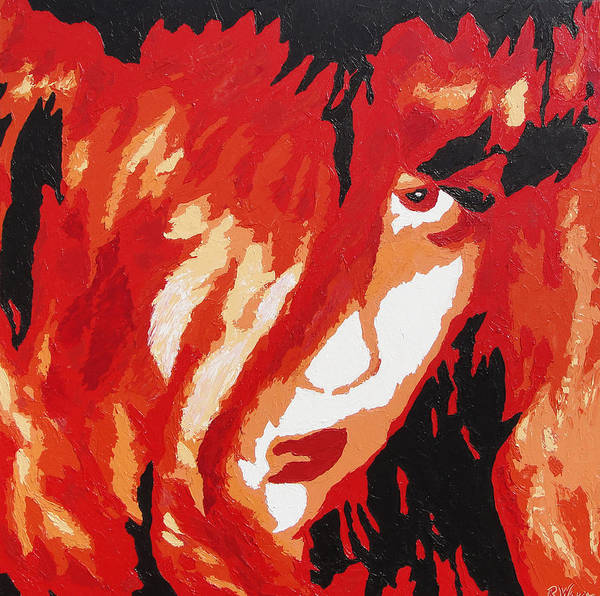 Portrait Art Print featuring the painting Consumed by Ricklene Wren