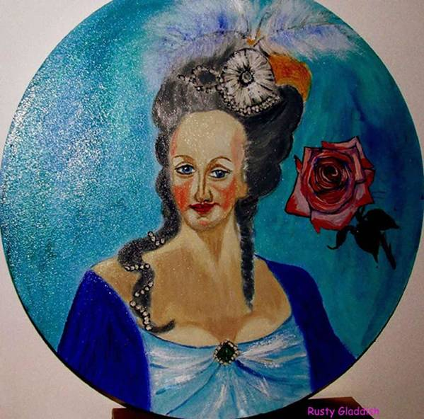 Guillotine Art Print featuring the painting Marie Antoinette by Rusty Woodward Gladdish