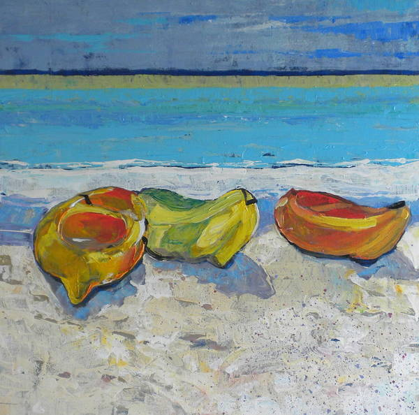 Caribbean Art Print featuring the painting Orange And Yellow by Jan Farara