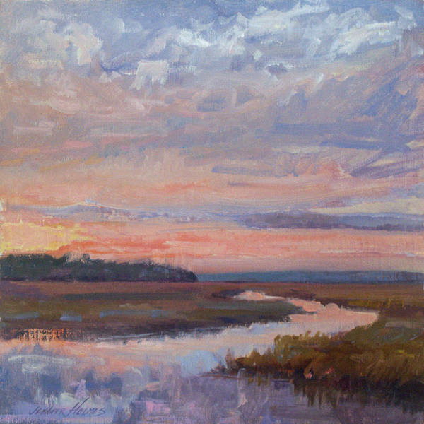 Landscape Art Print featuring the painting Late Light by Jennifer Holmes