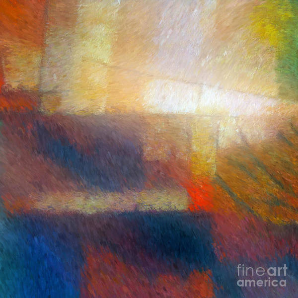 Abstract Art Print featuring the painting Breaking Light by Lutz Baar