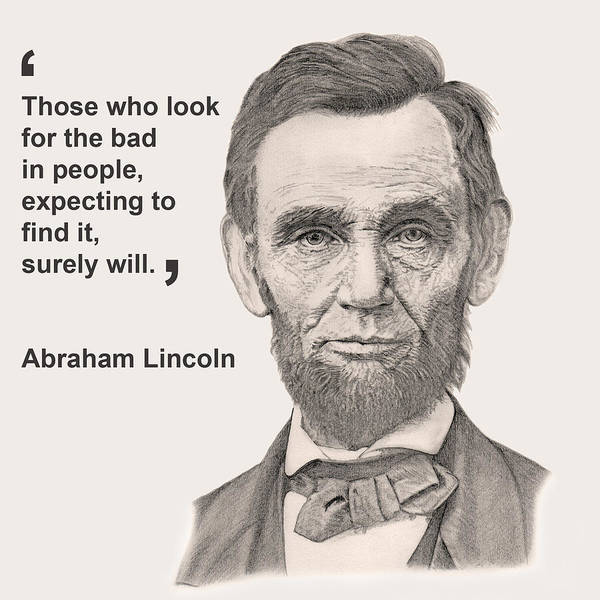 Pencil Art Print featuring the digital art Lincoln Card by Chris Greenwood