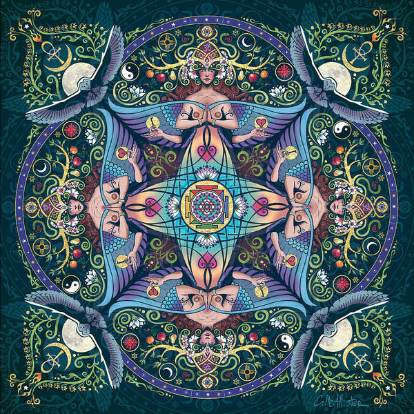 Mandala Art Print featuring the digital art Mystery by Cristina McAllister