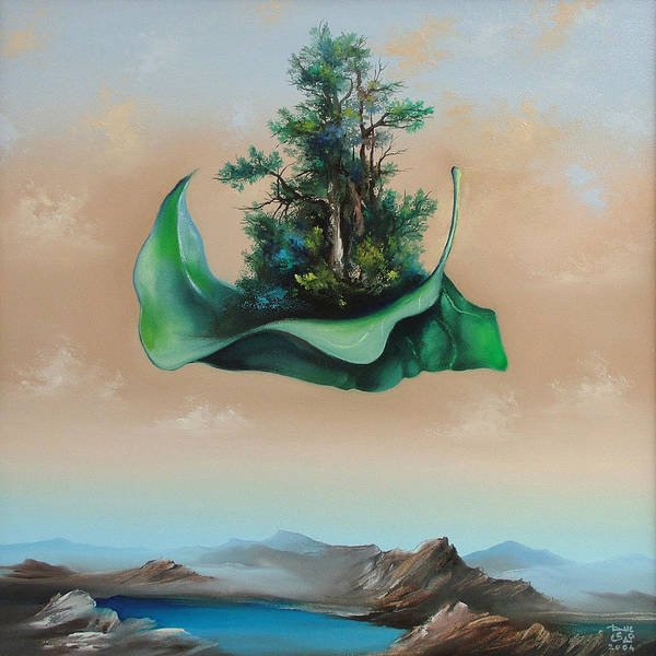 Art Print featuring the painting Levitation by Zoltan Ducsai