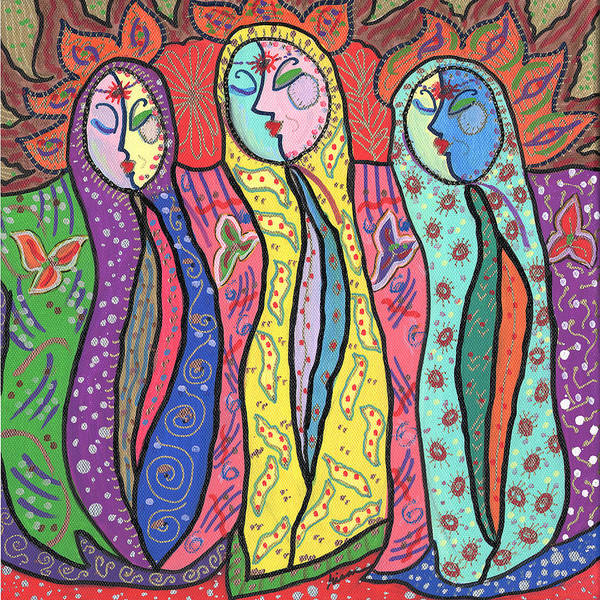 Colorful Art Print featuring the painting Gypsies by Sharon Nishihara