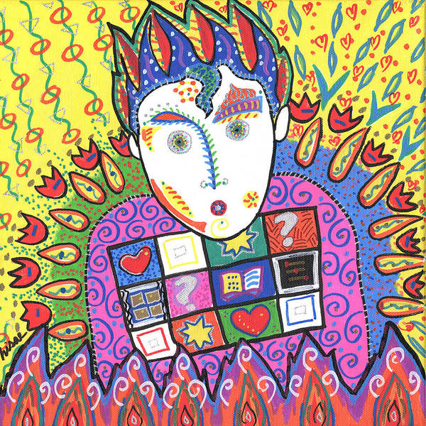 Whimsical Art Print featuring the painting Kevin by Sharon Nishihara