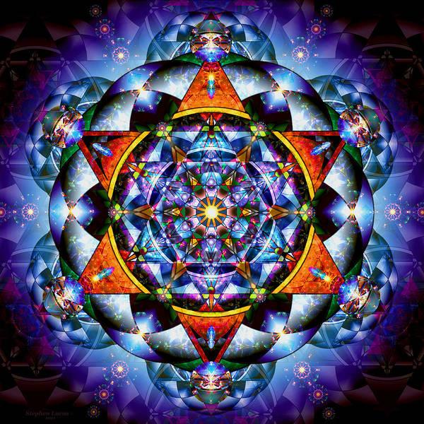 Mandala Art Print featuring the digital art Lord Of Light I by Stephen Lucas