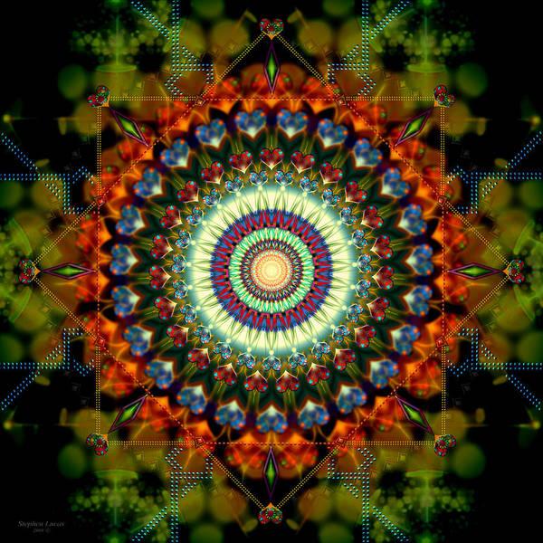 Mandala Art Print featuring the digital art Mandala Of Loves Journey by Stephen Lucas