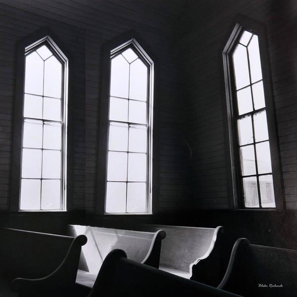 Art Print featuring the photograph Three Window Church by Blake Richards