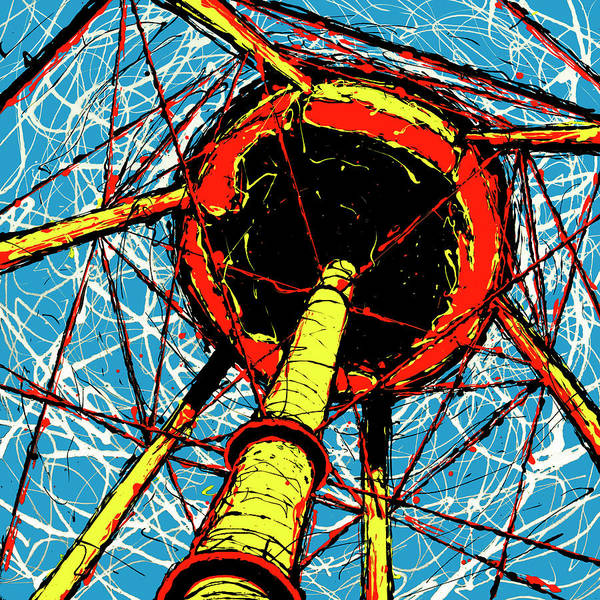 Art Print featuring the painting Water Tower by Rob Blauser