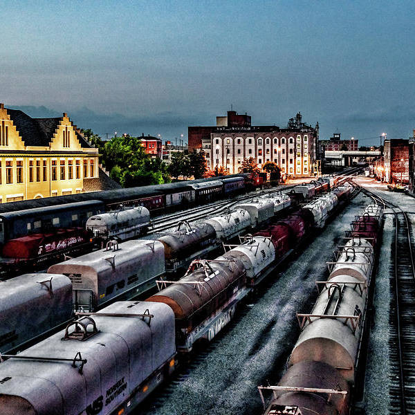 Train yard in Knoxville, TN