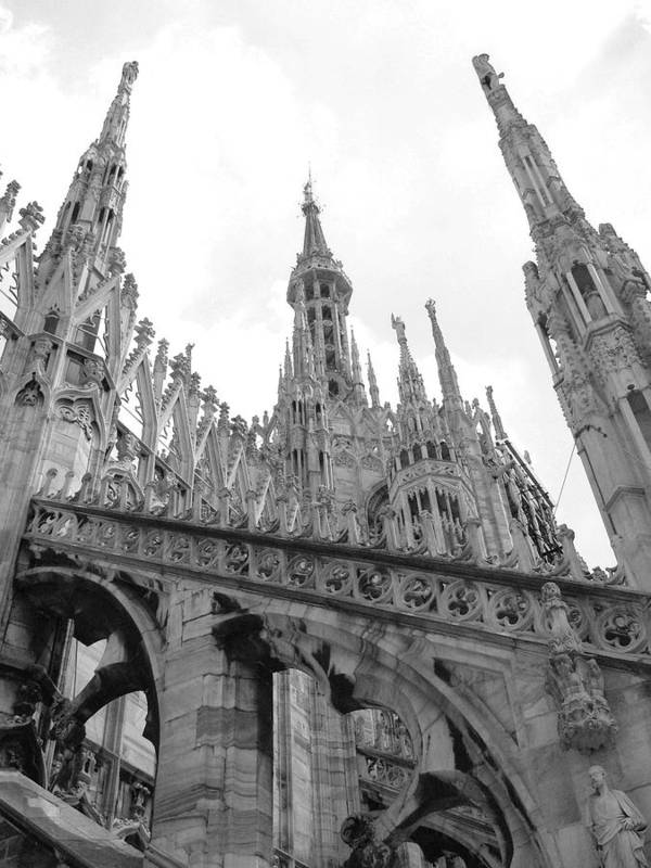 Cathedral Art Print featuring the photograph bw2 by Mikael Gambitt