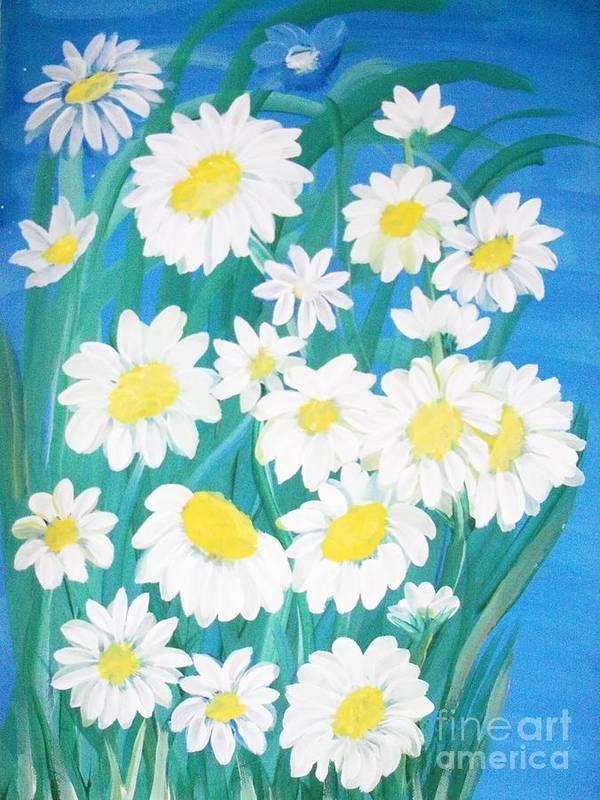 Flowers Art Print featuring the painting Daisy by Teresa Nash