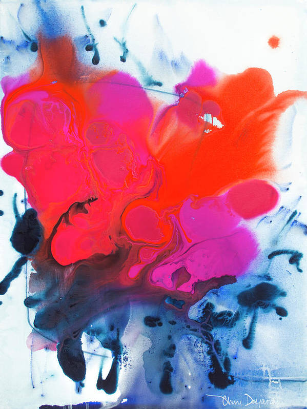 Abstract Art Print featuring the painting Voice by Claire Desjardins