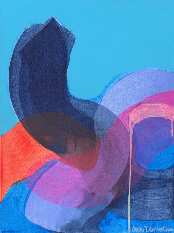 Abstract Art Print featuring the painting How Did It Get To Be So Late? by Claire Desjardins