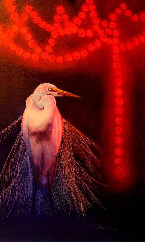 Bird Art Print featuring the painting Rasberry Glow by Valerie Aune
