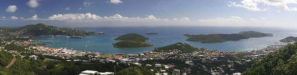 Charlotte Amalie Art Print featuring the photograph Charlotte Amalie From Above by Gary Lobdell