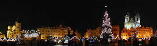 Old Town Square Photographs Art Print featuring the photograph Christmas Market by Gary Lobdell