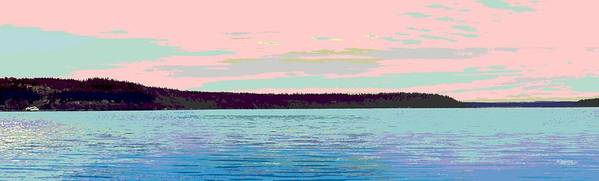 Abstract Art Print featuring the digital art Mukilteo Clinton Ferry Panel 1 Of 3 by James Kramer