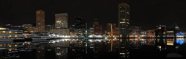Baltimore Harbor Print featuring the photograph Baltimore Harbor by Shane Psaltis