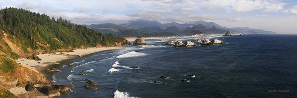Ocean Art Print featuring the photograph Ecola Vista by Winston Rockwell
