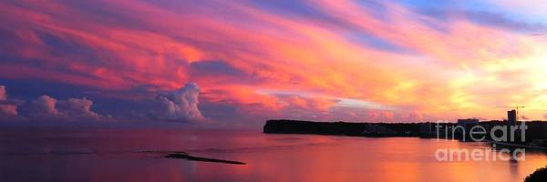 Morning Calm Art Print featuring the photograph Colorful Sky -tumon Bay Guam by Scott Cameron