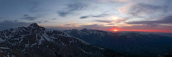Holy Cross Sunset Panorama by Aaron Spong