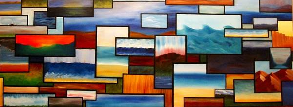 Landscape Art Print featuring the painting Multiscape by Kim Nelson