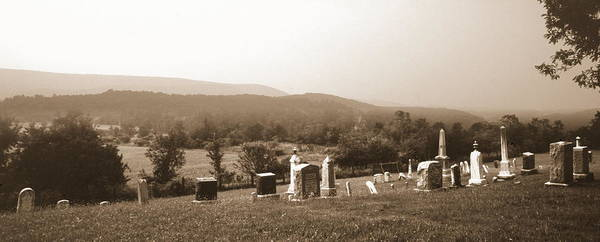 Cemetary Art Print featuring the photograph 101708-1  On A Hillside In Pennsylvania by Mike Davis
