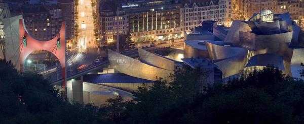 Spain Art Print featuring the photograph Guggenheim At Night by Rafa Rivas