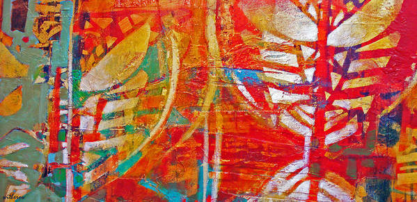 Abstract Art Print featuring the digital art Jungle Heat by Dale Witherow