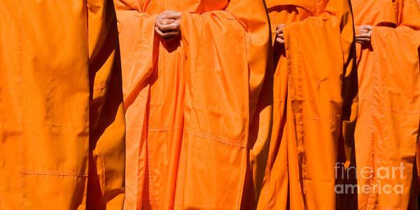 Buddhist Monk Art Print featuring the photograph Buddhist Monks 03 by Rick Piper Photography