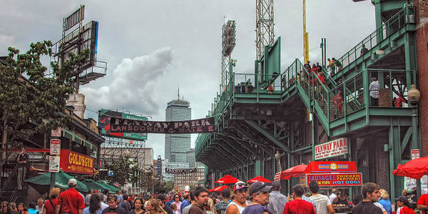 Red Sox Print featuring the photograph Fenway Bustle by Joann Vitali