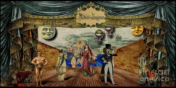 Victorian Art Print featuring the digital art Theatrum Imaginarius -theatre Of The Imaginary by Cinema Photography