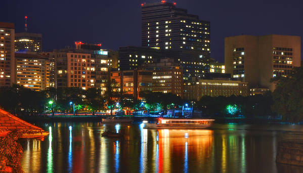 Charles River Print featuring the photograph Colors On The Charles by Joann Vitali