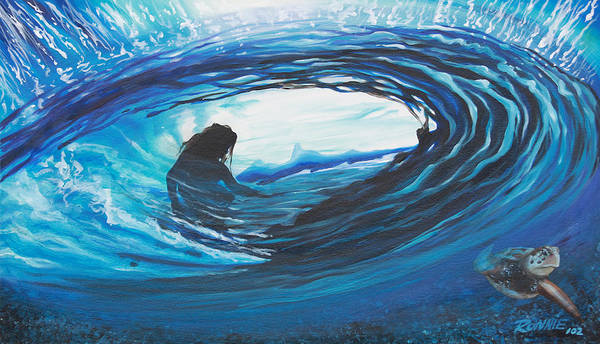 Surf Art Print featuring the painting Glass Eye 2 by Ronnie Jackson