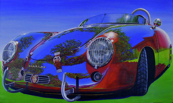 Car Art Print featuring the painting Tub Effects by Lynn Masters
