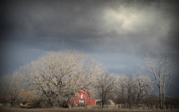Barns Art Print featuring the photograph Country Storms.. by Al Swasey
