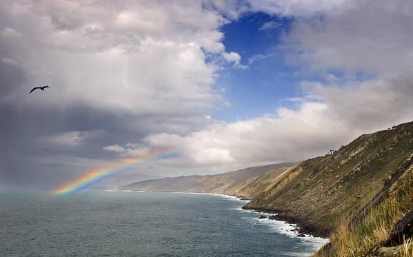 Spain Art Print featuring the photograph Rainbow From The Sea by Rafa Rivas
