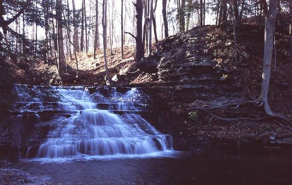 Waterfall Art Print featuring the photograph 111401-4 by Mike Davis