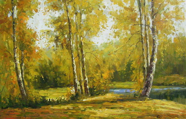 Landscape Art Print featuring the painting Cariboo Gold by Imagine Art Works Studio