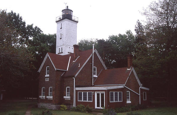 Forty Mile Point Light Art Print featuring the photograph Forty Mile Point Light by Herbert Gatewood