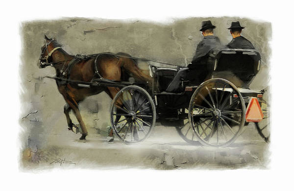 Mennonite Art Print featuring the painting Amish Country by Bob Salo