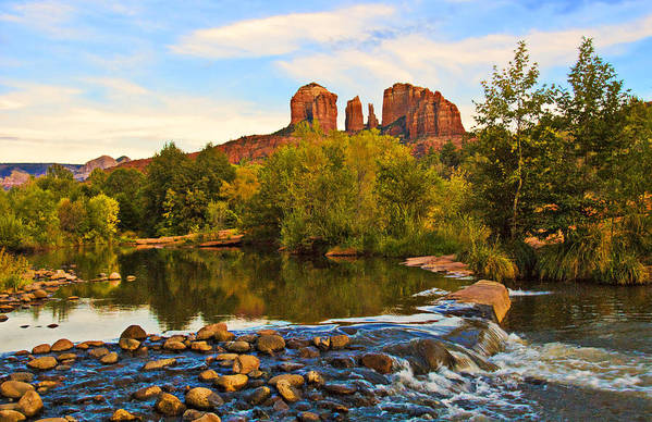 Sedona Art Print featuring the photograph Red Rock Crossing Three by Paul Basile