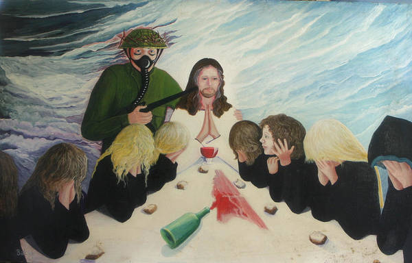 Religious Art Print featuring the painting The Dream by Georgette Backs